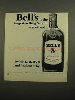 1966 Bell's Scotch Ad - Largest-Selling in Scotland