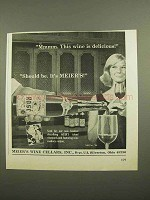 1966 Meier's Wine Cellars Ad - This Wine is Delicious!