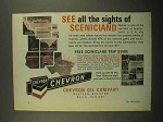 1966 Chevron Oil Ad - See All The Sights of Scenicland