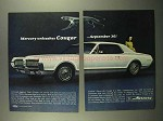 1967 Mercury Cougar Ad - Unleashes September 30