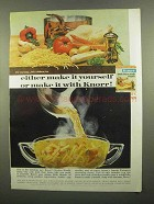 1965 Knorr Soup Ad - Either Make It Yourself or Knorr