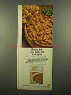 1965 French's Chili-O Mix Ad - Here's a Dish