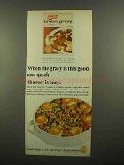 1965 French's Brown Gravy Mix Ad - When This Good