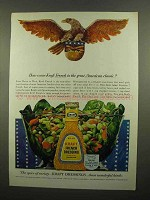 1965 Kraft French Dressing Ad - Great American Classic