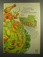 1965 Jell-O for Salads Celery Ad - Salad Tastes Better