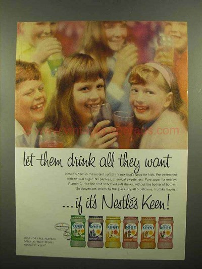 1965 Nestle's Keen Drink Ad - All They Want