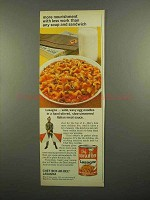 1965 Chef Boy-Ar-Dee Lasagna Ad - More Nourishment