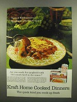1965 Kraft Spaghetti and Meat Sauce Dinner Ad