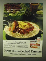 1965 Kraft Spaghetti and Meat Sauce Dinner Ad - Are You Ready