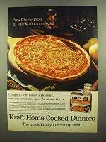 1965 Kraft Pizza with Cheese Ad - Only Kraft Can Make