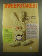 1965 Baker's Coconut Ad - Our Bunny Buying Dinners