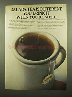 1965 Salada Tea Ad - Drink It When You're Well