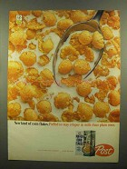 1965 Post Puffed Corn Flakes Cereal Ad - Stay Crisper