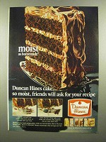 1965 Duncan Hines Cake Mix Ad - Moist as Homemade