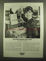 1965 Teletype Machines Ad - Fast-Moving Paperwork