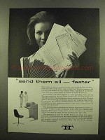 1965 Teletype Machines Ad - Send Them All Faster