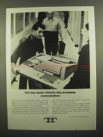 1965 Teletype Machines Ad - Effective Data Processing