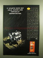 1992 STP Engine Treatment Ad - Starts Cold, Naked