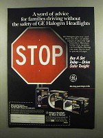 1991 General Electric Halogen Headlights Ad - Advice
