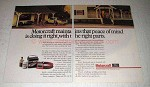 1988 Ford Motorcraft Parts Ad - Maintains Peace of Mind