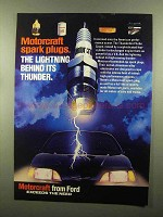 1987 Ford Motorcraft Spark plugs Ad - The Lightning