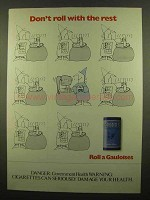 1986 Gauloises Cigarettes Ad - Don't Roll With