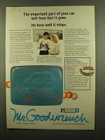 1985 Mr. Goodwrench Service Ad - Important Part of Car