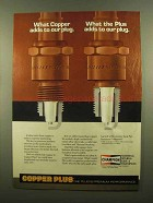 1985 Champion Copper Plus Spark Plugs Ad - Adds