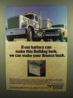 1984 Interstate Batteries Ad - Make Bulldog Bark