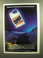 1982 Zerex Antifreeze Ad - Premium Protection Lasts