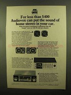 1980 Audiovox Ad - COSC-5A, Tryvox 30 Speakers