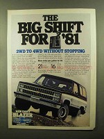1981 Chevy Blazer Ad - The Big Shift for '81