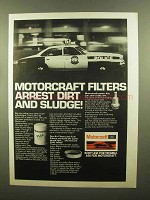 1979 Motorcraft Parts Ad - Arrest Dirt and Sludge