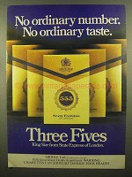 1978 State Express 555 Cigarettes Ad - No Ordinary