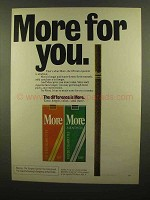 1978 More Cigarettes Ad - More For You