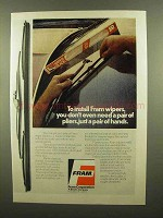 1977 Fram Wiper Blades Ad - Don't Need Pair of Pliers