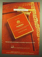 1977 Dunhill International Cigarettes Ad - Finest