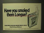 1977 Gauloises Longues Cigarettes Ad - Have You Smoked