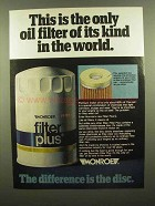 1976 Monroe Filter Plus Oil Filter Ad