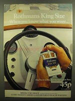 1976 Rothmans King Size Cigarettes Ad - You Know