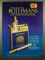 1973 Rothmans International Cigarettes Ad