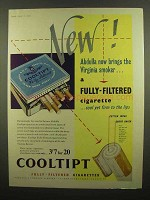 1954 Abdulla Cooltipt Cigarettes Ad - Virginia Smoker