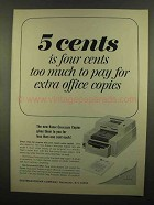 1965 Kodak Cavalcade Copier Ad - Four Cents Too Much