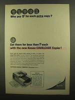1965 Kodak Cavalcade Copier Ad - Why Pay Extra