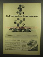 1965 Kodak Cavalcade Copier Ad - Too Much to Pay Extra