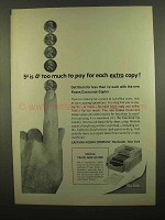 1965 Kodak Cavalcade Copier Ad - 5c is 4c Too Much