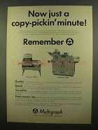 1965 Multigraph Bruning 2000 and Multilith 2550 Ad