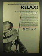 1965 Addressograph Master Records Ad - Relax!
