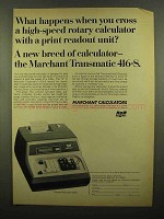 1965 SCM Marchant Transmatic 416-S Calculator Ad