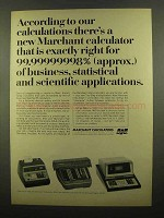 1965 SCM Marchant Calculator Ad - Two-Step, Cogito